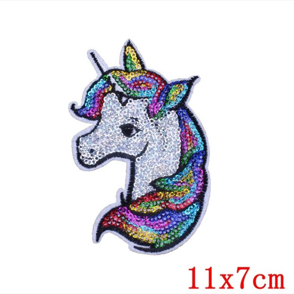 Prajna Cartoon Unicorn Planet Things Iron On Patches For Clothing Embroidery Stripe On Clothes Cute DIY 2 Prajna Cartoon Unicorn Planet Things Iron On Patches For Clothing Embroidery Stripe On Clothes Cute DIY Sequin Applique Badge