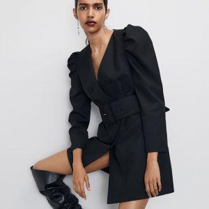 RR Solid Jackets Women Fashion Tie Belt Waist Coats Women Elegant Double Breasted Dress Jackets Female Innrech Market.com