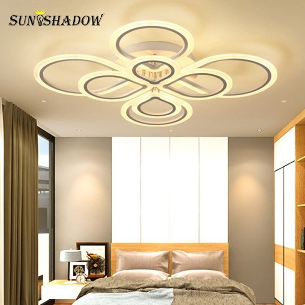 Rings Modern Led Ceiling Light For Living room Bedroom Luminaires Black White Acrylic Surface Mounted Chandelier Lamps Plus Chandeliers | Crystal Ceiling Lights | Rings Modern Led Ceiling Light For Living room Bedroom Luminaires Black White Acrylic Surface Mounted Chandelier Ceiling Lamps 001