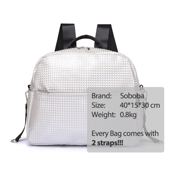 Soboba Mommy Maternity Diaper Bags Solid Fashion Large Capacity Women Nursing Bag for Baby Care Stylish 4 Soboba Mommy Maternity Diaper Bags Solid Fashion Large Capacity Women Nursing Bag for Baby Care Stylish Outdoor Mommy Bags