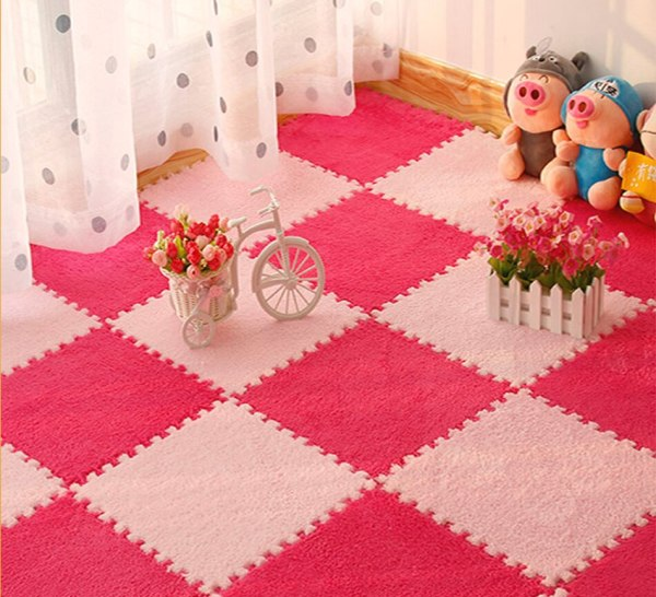 10Pcs Lot Children s Rug Soft Plush Baby Play Mat Toys Eva Foam Kids Rug Puzzle 10Pcs/Lot Children's Rug Soft Plush Baby Play Mat Toys Eva Foam Kids Rug Puzzle Children's Mat Interlock Floor Playmat 30*30 CM