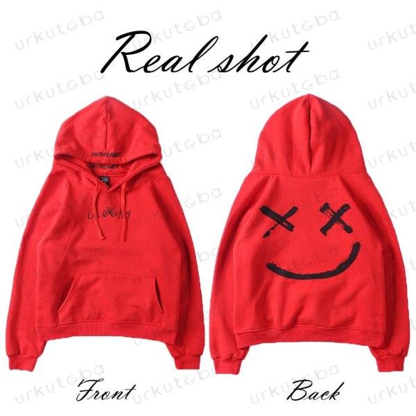 2019 New Men Hoodies Sweatshirts Smile Print Headwear Hoodie Hip Hop Streetwear Clothing Us size Plus 4 2019 New Men Hoodies Sweatshirts Smile Print Headwear Hoodie Hip Hop Streetwear Clothing Us size Plus Size 3XL