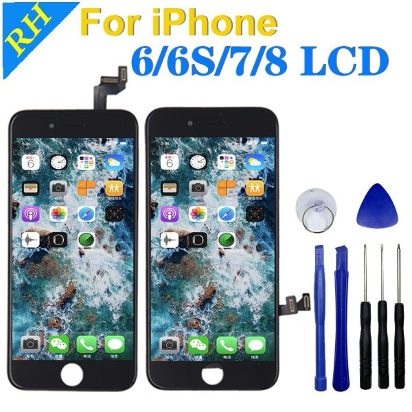 AAA LCD Display 100 3D Touch Screen For iPhone 6S 7 8 6G Replacement Screen With AAA LCD Display 100%3D Touch Screen For iPhone 6S 7 8 6G Replacement Screen With Digitizer Assembly For iPhone Repair Tools Gift