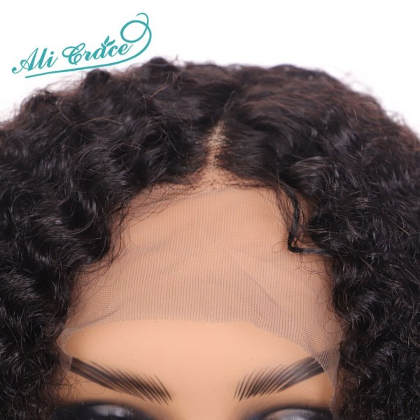 Ali Grace Curly Lace Front Wigs With Baby Hair Remy Short Curly Bob Wigs 13 4 3 Ali Grace Curly Lace Front Wigs With Baby Hair Remy Short Curly Bob Wigs 13*4 Brazilian Afro Kinky Curly Human Hair Lace Wig