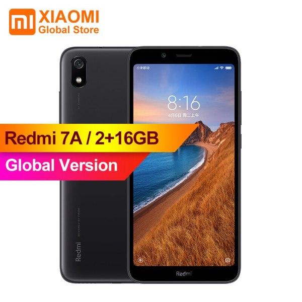 "Global Version Xiaomi Redmi 7A MI Celular 2GB 16GB Smartphone Snapdargon 439 Octa Core 4000mAh AI Global Version Xiaomi Redmi 7A MI Celular 2GB 16GB Smartphone Snapdargon 439 Octa Core 4000mAh AI Face Unlock 5.45"" 13MP Camera"