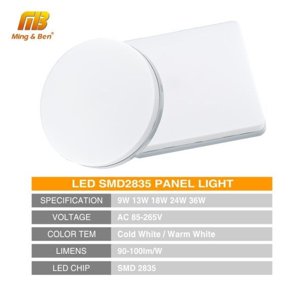LED Panel Lamp LED Ceiling Light 48W 36W 24W 18W 13W 9W 6W Down Light Surface 1 LED Panel Lamp LED Ceiling Light 48W 36W 24W 18W 13W 9W 6W Down Light Surface Mounted AC 85-265V Modern Lamp For Home Lighting