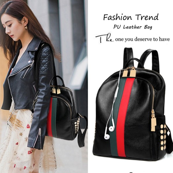 Luxury Famous Brand Designer Women PU Leather Backpack Female Casual Shoulders Bag Teenager School Bag Fashion 4 Luxury Famous Brand Designer Women PU Leather Backpack Female Casual Shoulders Bag Teenager School Bag Fashion Women's Bags