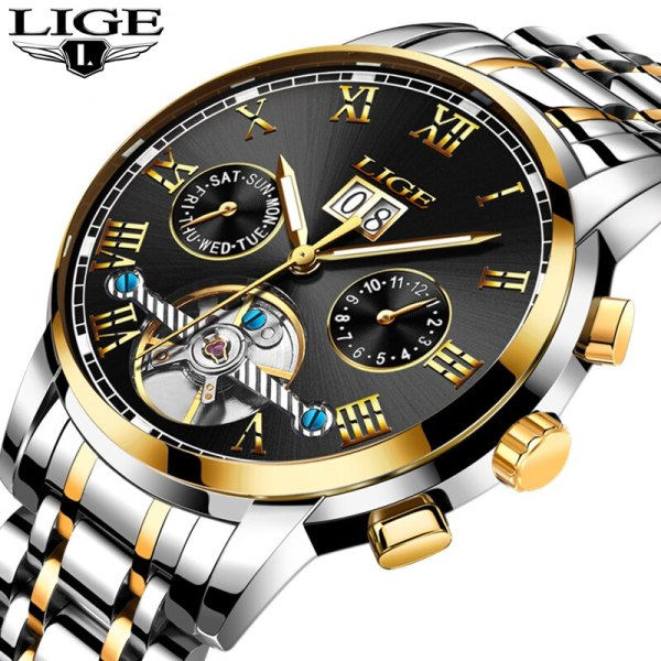 Mens Watches Top Brand LIGE Fashion Luxury Business Automatic Mechanical Men Military Steel Waterproof Clock Relogio 1 Mens Watches Top Brand LIGE Fashion Luxury Business Automatic Mechanical Men Military Steel Waterproof Clock Relogio Masculino