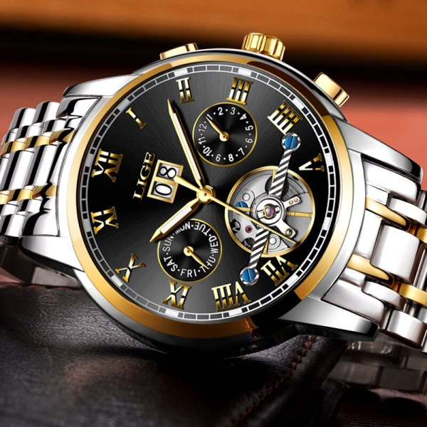 Mens Watches Top Brand LIGE Fashion Luxury Business Automatic Mechanical Men Military Steel Waterproof Clock Relogio 3 Mens Watches Top Brand LIGE Fashion Luxury Business Automatic Mechanical Men Military Steel Waterproof Clock Relogio Masculino