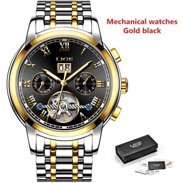 Mens Watches Top Brand LIGE Fashion Luxury Business Automatic Mechanical Men Military Steel Waterproof Clock Relogio 4 Mens Watches Top Brand LIGE Fashion Luxury Business Automatic Mechanical Men Military Steel Waterproof Clock Relogio Masculino