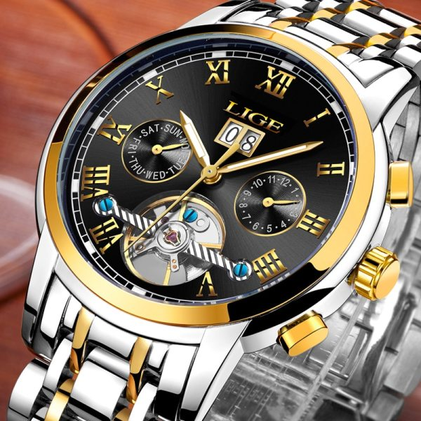 Mens Watches Top Brand LIGE Fashion Luxury Business Automatic Mechanical Men Military Steel Waterproof Clock Relogio Mens Watches Top Brand LIGE Fashion Luxury Business Automatic Mechanical Men Military Steel Waterproof Clock Relogio Masculino