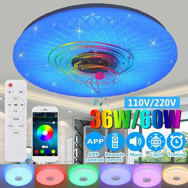 Modern RGB LED Ceiling Light home lighing 36W 60W 40cm APP Remote Control bluetooth Music Light Modern RGB LED Ceiling Light home lighing 36W/60W 40cm APP Remote Control bluetooth Music Light Bedroom Lamp Smart Ceiling Lamp