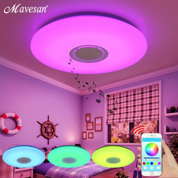 Music LED ceiling Lights RGB APP and Remote control ceiling lamp bedroom 25W 36W 52W living Music LED ceiling Lights RGB APP and Remote control ceiling lamp bedroom 25W 36W 52W living room light lampara de techo