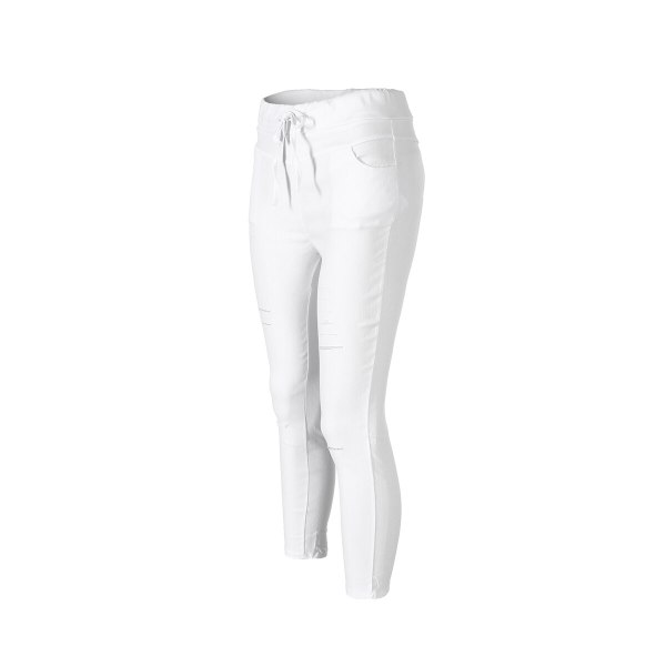 New Women Skinny Ripped Knee Hole Bandage Jeans Solid Color arrival Pants High Waist Stretch Slim 3 New Women Skinny Ripped Knee Hole Bandage Jeans Solid Color arrival Pants High Waist Stretch Slim Pencil Trouser