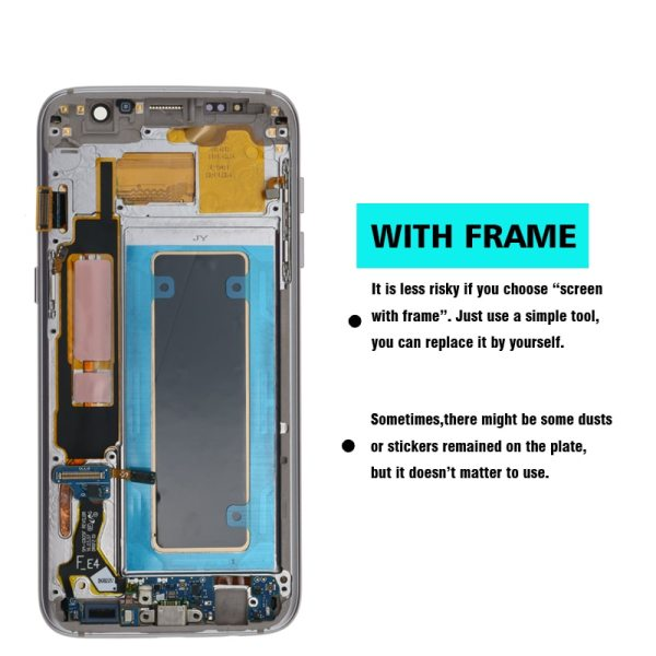 ORIGINAL 5 5 Display with the Burn Shadow LCD with Frame for SAMSUNG Galaxy S7 edge 5 ORIGINAL 5.5'' Display with the Burn-Shadow LCD with Frame for SAMSUNG Galaxy S7 edge G935 G935F Touch Screen Digitizer Assembly