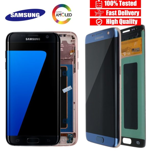 ORIGINAL 5 5 Display with the Burn Shadow LCD with Frame for SAMSUNG Galaxy S7 edge ORIGINAL 5.5'' Display with the Burn-Shadow LCD with Frame for SAMSUNG Galaxy S7 edge G935 G935F Touch Screen Digitizer Assembly