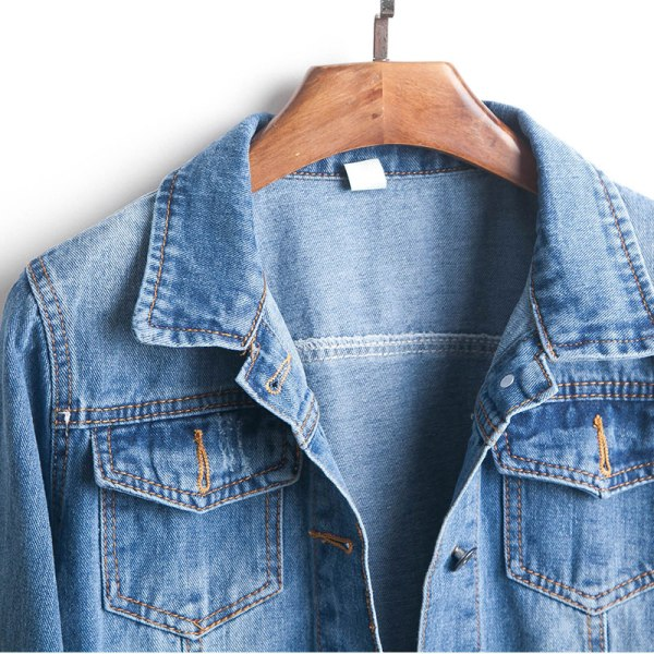 Plus Size Ripped Hole Cropped Jean Jacket 4Xl 5Xl Light Blue Bomber Short Denim Jackets Jaqueta 3 Plus Size Ripped Hole Cropped Jean Jacket 4Xl 5Xl Light Blue Bomber Short Denim Jackets Jaqueta Long Sleeve Casual Jeans Coat