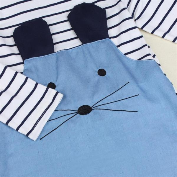 TANGUOANT Striped Patchwork Character Girl Dresses Long Sleeve Cute Mouse Children Clothing Kids Girls Dress Denim 1 TANGUOANT Striped Patchwork Character Girl Dresses Long Sleeve Cute Mouse Children Clothing Kids Girls Dress Denim Kids Clothes