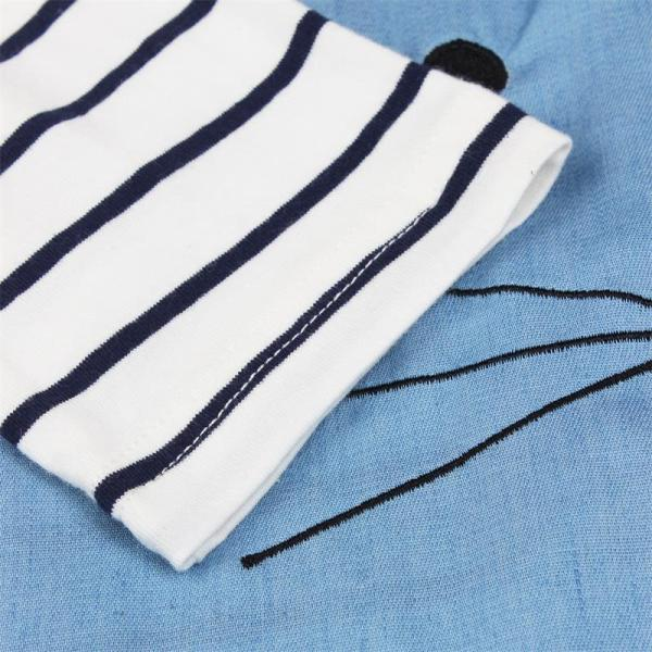 TANGUOANT Striped Patchwork Character Girl Dresses Long Sleeve Cute Mouse Children Clothing Kids Girls Dress Denim 3 TANGUOANT Striped Patchwork Character Girl Dresses Long Sleeve Cute Mouse Children Clothing Kids Girls Dress Denim Kids Clothes
