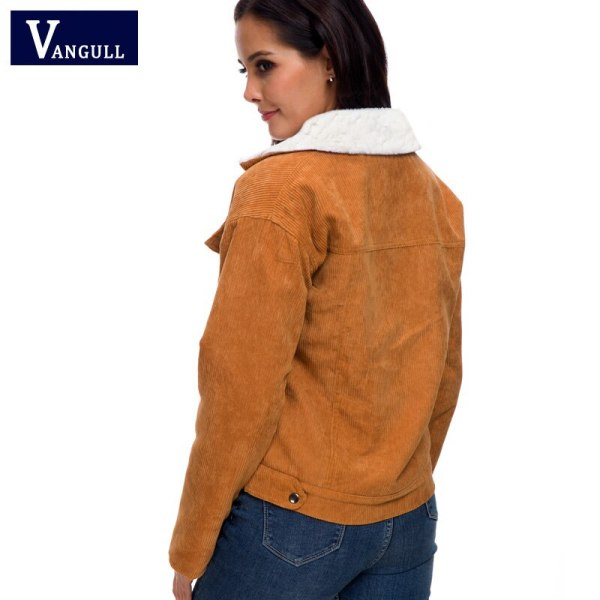 VANGULL Women Winter Jacket Thick Fur Lined Coats Parkas Fashion Faux Fur Lining Corduroy Bomber Jackets 1 VANGULL Women Winter Jacket Thick Fur Lined Coats Parkas Fashion Faux Fur Lining Corduroy Bomber Jackets Cute Outwear 2019 New