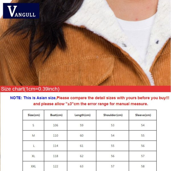 VANGULL Women Winter Jacket Thick Fur Lined Coats Parkas Fashion Faux Fur Lining Corduroy Bomber Jackets 4 VANGULL Women Winter Jacket Thick Fur Lined Coats Parkas Fashion Faux Fur Lining Corduroy Bomber Jackets Cute Outwear 2019 New