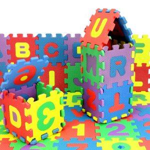 36Pcs ABC flashcards Baby Child Number Alphabet Puzzle Foam Maths Educational Toy Gift whole pack Foam Innrech Market.com