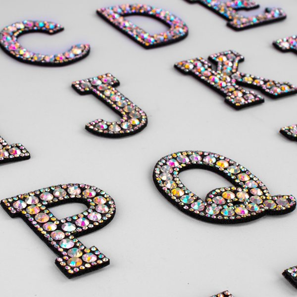 A Z 1pcs Rhinestone English Alphabet Letter Applique 3D Iron On letters Patch For Clothing Badge 3 A-Z 1pcs Rhinestone English Alphabet Letter Applique 3D Iron On letters Patch For Clothing Badge Paste For Clothes Bag Shoes