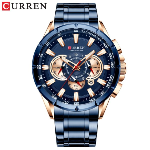 CURREN Wrist Watch Men Waterproof Chronograph Military Army Stainless Steel Male Clock Top Brand Luxury Man 1 CURREN Wrist Watch Men Waterproof Chronograph Military Army Stainless Steel Male Clock Top Brand Luxury Man Sport Watches 8363
