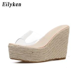Eilyken 2019 New Summer PVC Jelly Sandals slippers Shoes Casual Sexy Wedges 11 5CM Women s Innrech Market.com