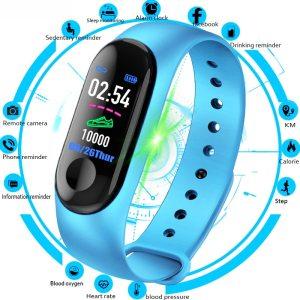 M3 Smart Watch Bracelet Band Fitness Tracker Messages Reminder Color Screen Waterproof Sport Wristband For men Innrech Market.com