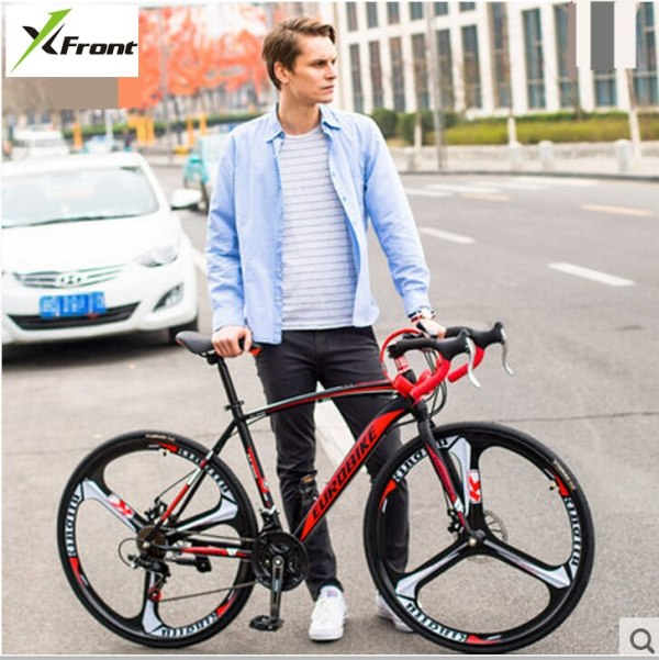 New brand carbon steel frame 700C wheel 21 27 speed disc brake road bike outdoor sport 1 New brand carbon steel frame 700C wheel 21/27 speed disc brake road bike outdoor sport cycling bicicletas racing bicycle