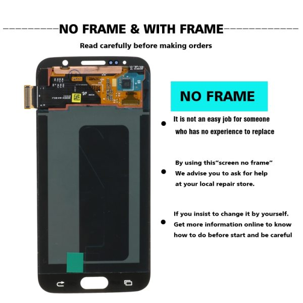 ORIGINAL 5 1 Super AMOLED Replacement LCD S6 for SAMSUNG GALAXY S6 G920 SM G920F G920F ORIGINAL 5.1'' Super AMOLED Replacement LCD S6 for SAMSUNG GALAXY S6 G920 SM-G920F G920F G920FD Touch Screen Digitizer Assembly