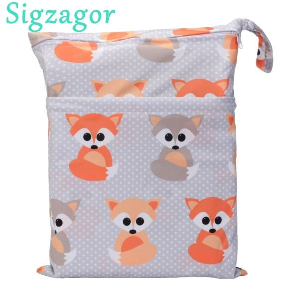 Sigzagor 1 Wet Dry Bag With Two Zippered Baby Diaper Nappy Bag Waterproof Swimmer Retail [Sigzagor]1 Wet Dry Bag With Two Zippered Baby Diaper Nappy Bag Waterproof Swimmer Retail Wholesale 36cmx29cm 1000 Choices