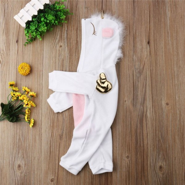 Emmababy Baby Girl 3D Unicorn Flannel Rompers Fashion ropa bebe girls Cartoon Hooded warm zipper Jumpsuit 4 Emmababy Baby Girl 3D Unicorn Flannel Rompers Fashion ropa bebe girls Cartoon Hooded warm zipper Jumpsuit Newborn Romper Clothes