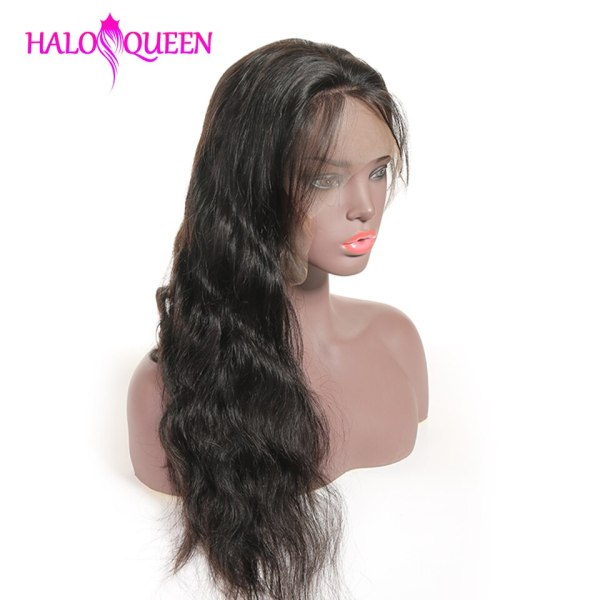HALOQUEEN Hair Human Wigs Raw Indian 13X4 Lace Closure Wig Body Wave Pre Plucked Baby Hair 1 HALOQUEEN Hair Human Wigs Raw Indian 13X4 Lace Closure Wig Body Wave Pre-Plucked Baby Hair 8-28 Inch Non Remy Human Hair