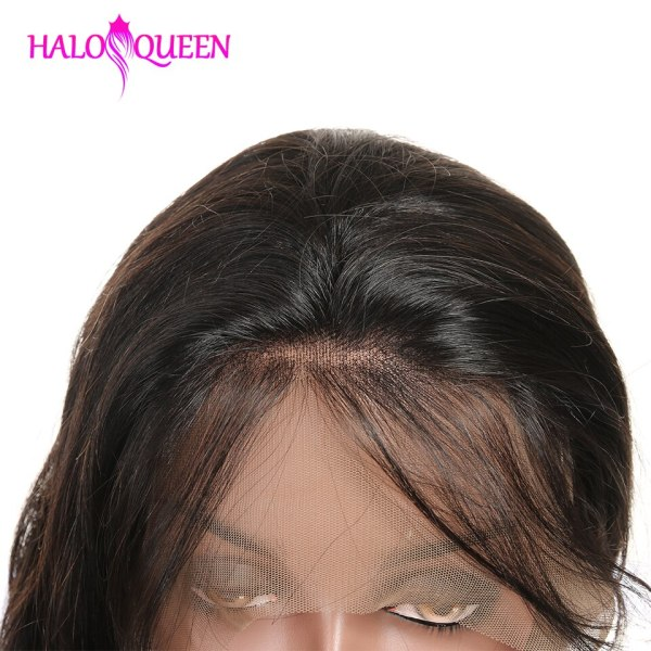 HALOQUEEN Hair Human Wigs Raw Indian 13X4 Lace Closure Wig Body Wave Pre Plucked Baby Hair 4 HALOQUEEN Hair Human Wigs Raw Indian 13X4 Lace Closure Wig Body Wave Pre-Plucked Baby Hair 8-28 Inch Non Remy Human Hair