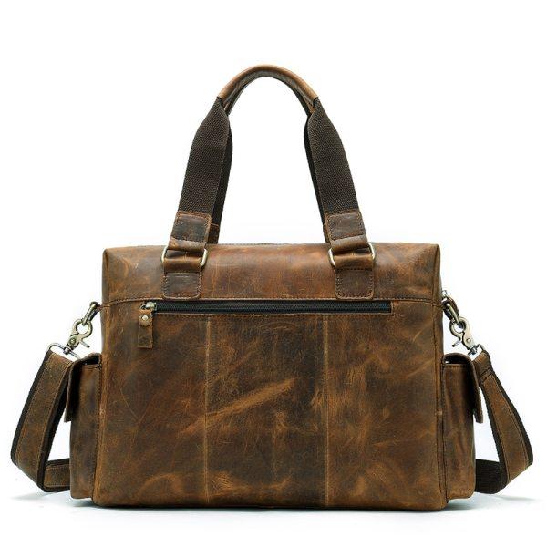 MVA Genuine Leather Men s Briefcase Messenger Bag Men s Leather Laptop Bag For men Office 2 MVA Genuine Leather Men's Briefcase Messenger Bag Men's Leather Laptop Bag For men Office Bags For Men Briefcase Handbags 8537