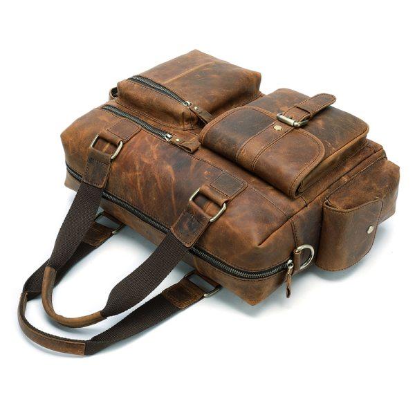 MVA Genuine Leather Men s Briefcase Messenger Bag Men s Leather Laptop Bag For men Office 3 MVA Genuine Leather Men's Briefcase Messenger Bag Men's Leather Laptop Bag For men Office Bags For Men Briefcase Handbags 8537