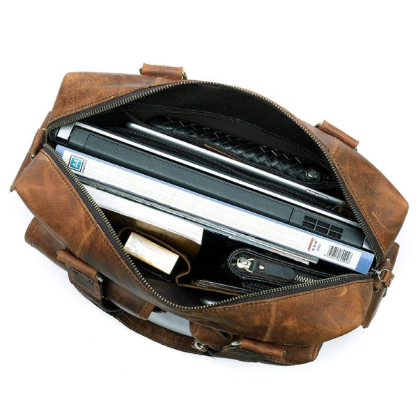 MVA Genuine Leather Men s Briefcase Messenger Bag Men s Leather Laptop Bag For men Office 4 MVA Genuine Leather Men's Briefcase Messenger Bag Men's Leather Laptop Bag For men Office Bags For Men Briefcase Handbags 8537