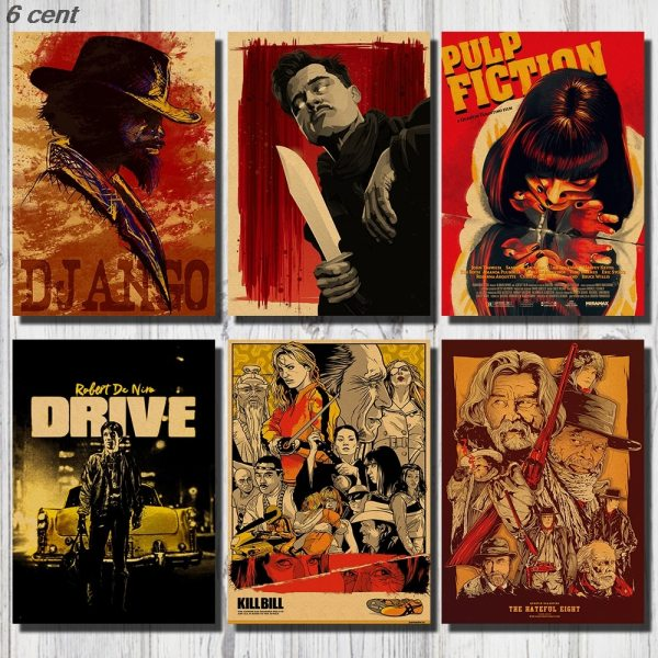 Quentin Tarantino Movie Poster Collection Vintage Kraft Poster Decorative Poster Home Decor Movie Wall Sticker Poster Quentin Tarantino Movie Poster Collection, Vintage Kraft Poster, Decorative Poster, Home Decor, Movie Wall Sticker, Poster Movie