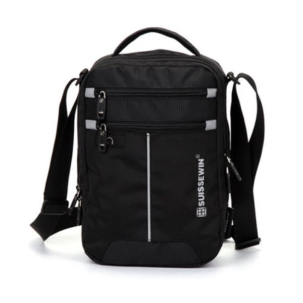"Swiss Shoulder Bag Leisure Briefcase Small Messenger Bag for 9 7 11 Tablets and Documents Men 2 Swiss Shoulder Bag Leisure Briefcase Small Messenger Bag for 9.7"" 11""Tablets and Documents Men's Black Handbag crossbody bag"
