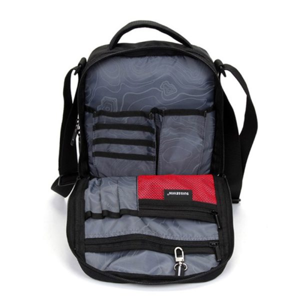 "Swiss Shoulder Bag Leisure Briefcase Small Messenger Bag for 9 7 11 Tablets and Documents Men 4 Swiss Shoulder Bag Leisure Briefcase Small Messenger Bag for 9.7"" 11""Tablets and Documents Men's Black Handbag crossbody bag"