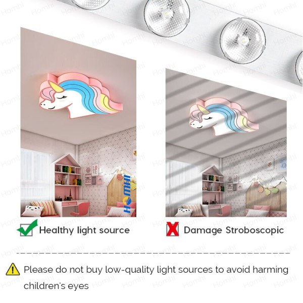 Unicorn kids room light led ceiling lights with remote control cartoon lampshade children room cute ceiling 2 Unicorn kids room light led ceiling lights with remote control cartoon lampshade children room cute ceiling lamp deco child room