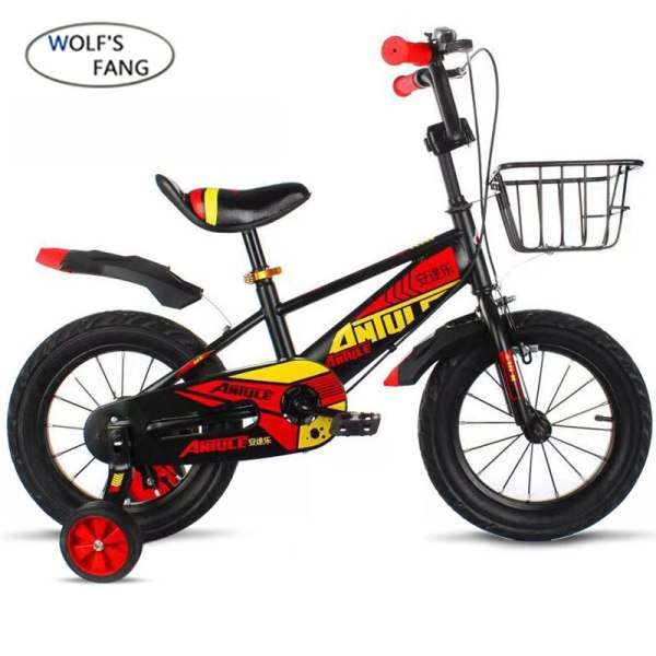 Wolf s fang Child s Bike Cycling Kid s Bicycle With Safety Protective Steel 14 16 1 Wolf's fang Child's Bike Cycling Kid's Bicycle With Safety Protective Steel 14/16/18 inch Children Bikes boy Free shipping