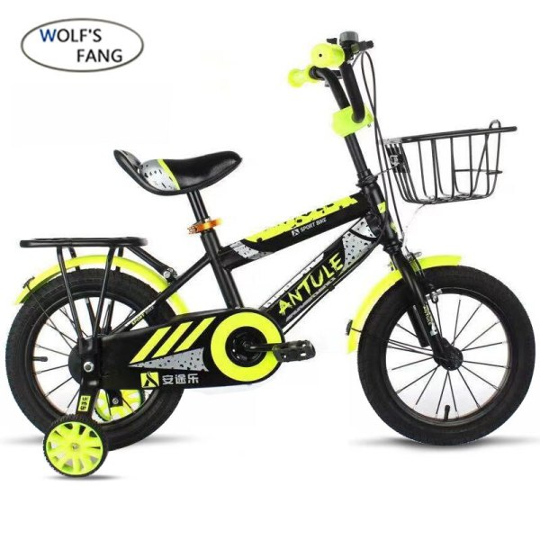 Wolf s fang Child s Bike Cycling Kid s Bicycle With Safety Protective Steel 14 16 2 Wolf's fang Child's Bike Cycling Kid's Bicycle With Safety Protective Steel 14/16/18 inch Children Bikes boy Free shipping