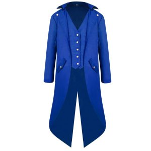 vintage Medieval Robe Cosplay Costume vintage men s trench Men s Coat Tailcoat Jacket Gothic Frock Innrech Market.com