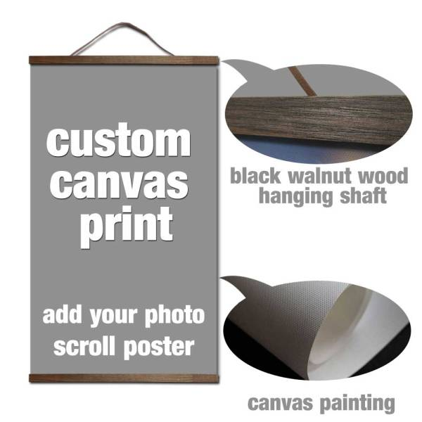 your picture favorite photo family baby canvas painting poster and custom print art with solid wood your picture favorite photo family baby canvas painting poster and custom print art with solid wood hanging scrolls