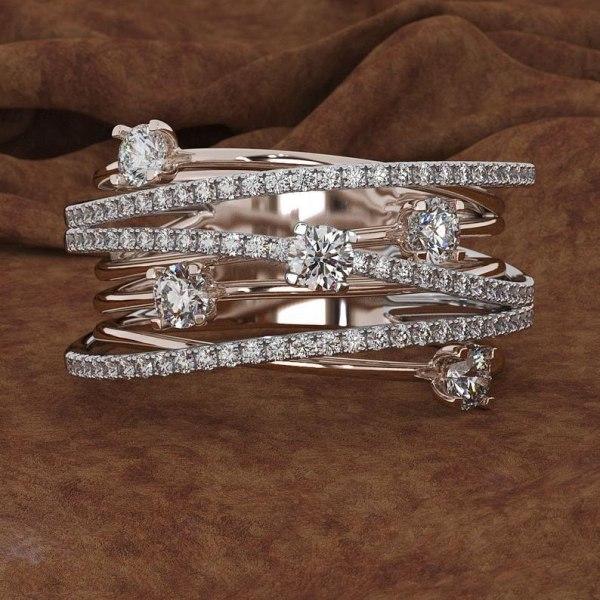 14K 3 Colors Gold Diamond Ring for Women Vintage Fashion Topaz Zircon Gemstone Bizuteria Anillos Sliver 1 14K 3 Colors Gold Diamond Ring for Women Vintage Fashion Topaz Zircon Gemstone Bizuteria Anillos Sliver Jewelry Engagement Ring