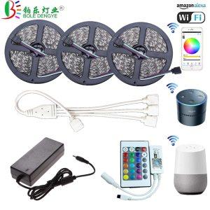 5M WiFi Bluetooth LED Strip DC 12V SMD 5050 Non waterproof Flexible RGB Tape Ribbon Light Innrech Market.com