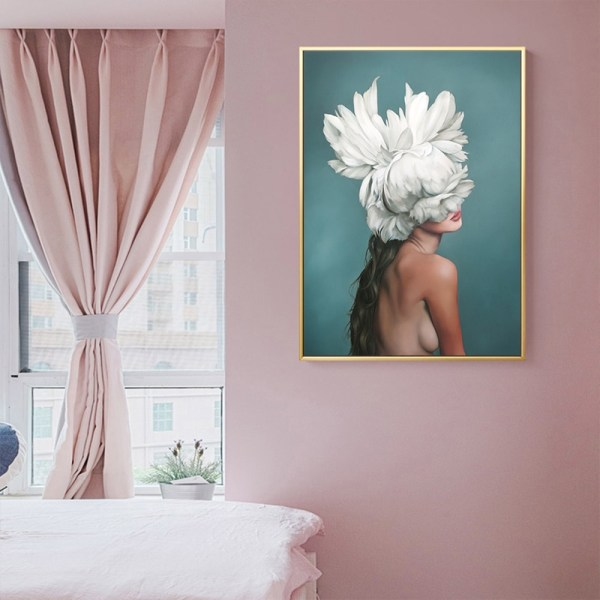 Abstract Flower Avatar Girl Canvas Painting Wall Painting Print Poster Wall Art Bedroom Living Room Modern 3 Abstract Flower Avatar Girl Canvas Painting Wall Painting Print Poster Wall Art Bedroom Living Room Modern Home Decoration